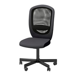 "FLINTAN swivel chair, Vissle gray Tested for: 242 lb 8 oz Width: 29 1/8 "" Depth: 27 1/8 "" Tested for: 110 kg Width: 74 cm Depth: 69 cm"