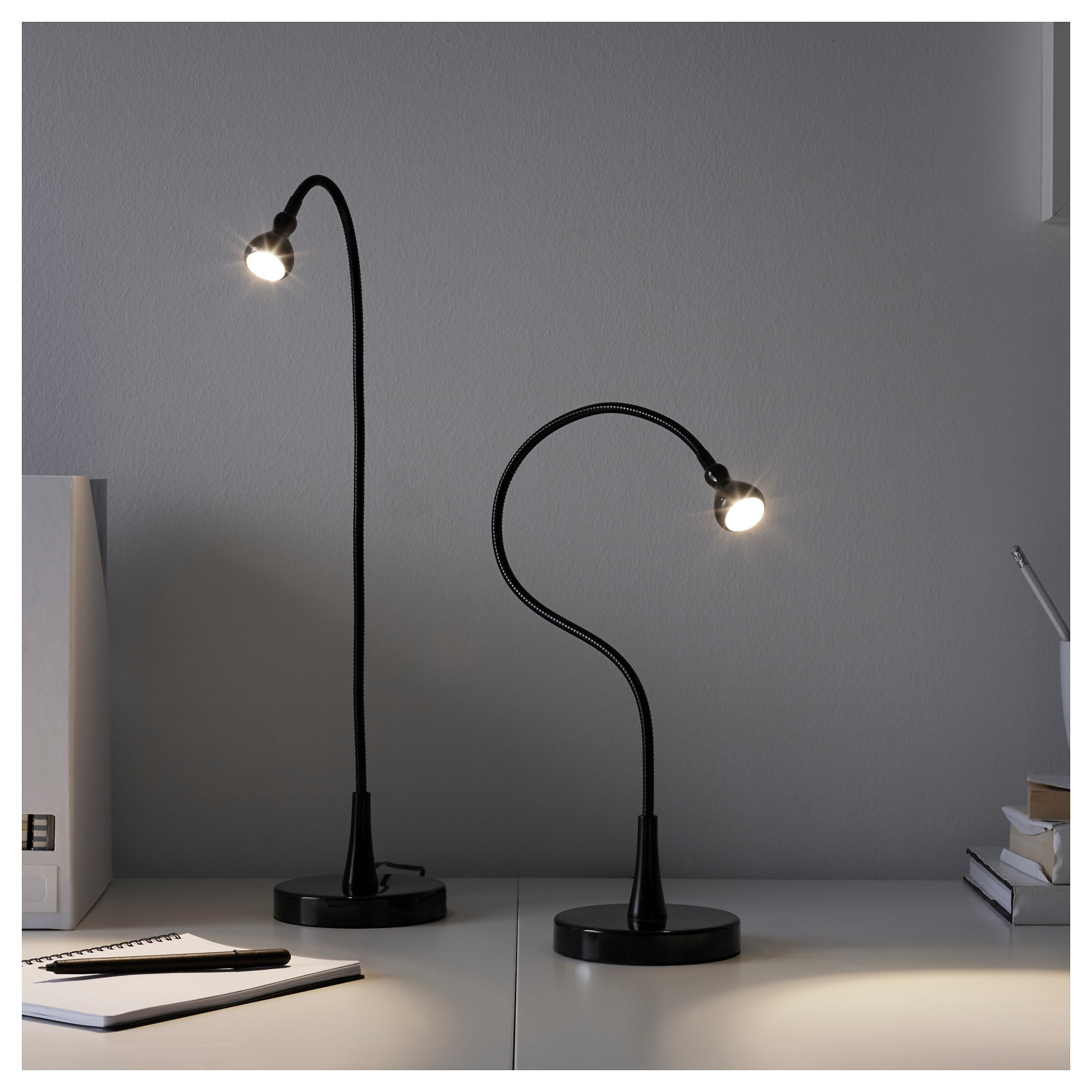 Jansj led work lamp black ikea geotapseo Image collections