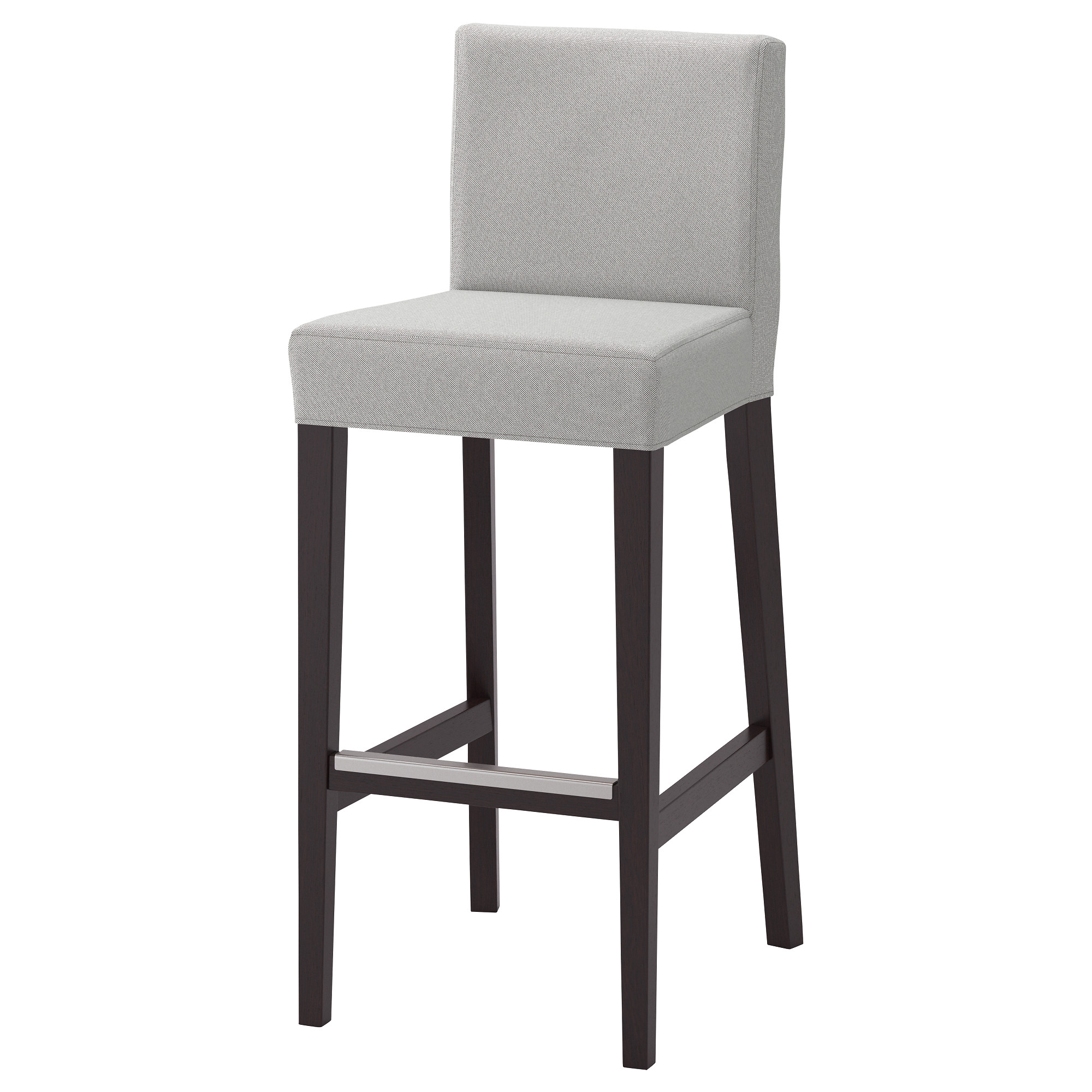 bar tables  chairs  bar tables  bar stools  ikea - henriksdal bar stool with backrest brownblack orrsta light gray testedfor