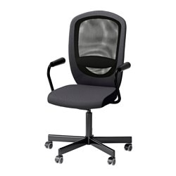 FLINTAN /  NOMINELL swivel chair with armrests, grey