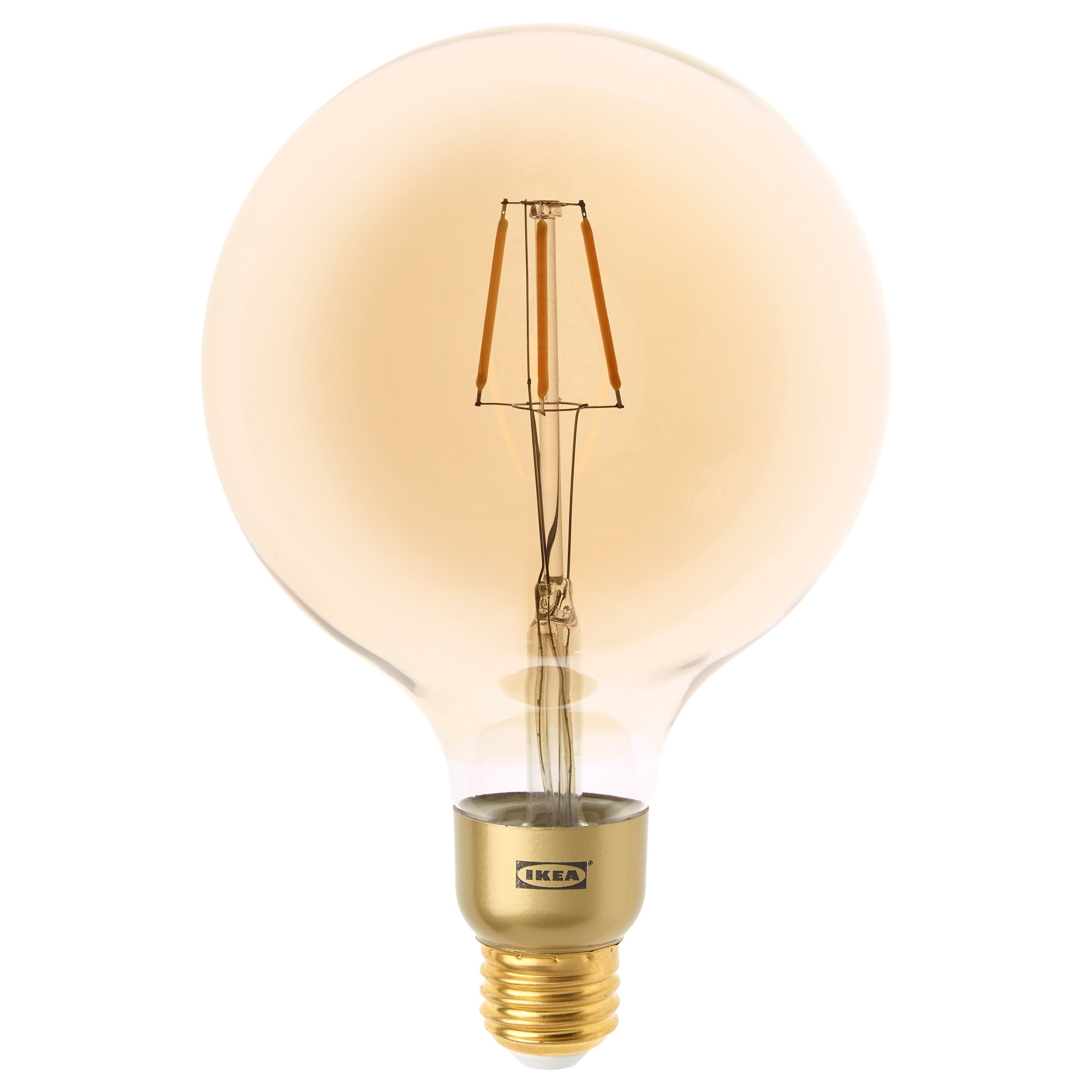lunnom led bulb e26 400 lumen dimmable globe brown clear glass color temperature