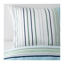 "BLÅRIPS duvet cover and pillowcase(s), blue Thread count: 207 /inch² Pillowcase quantity: 1 pack Duvet cover length: 86 "" Thread count: 207 /inch² Pillowcase quantity: 1 pack Duvet cover length: 218 cm"