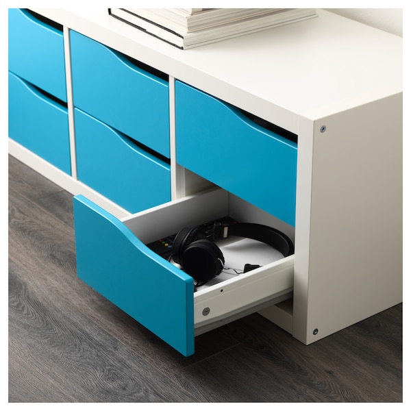 newest 5fdd9 43b5a Insert with 2 drawers KALLAX turquoise