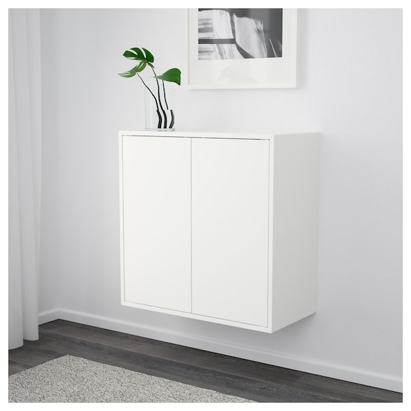 Cabinet With 2 Doors And Shelf Eket White