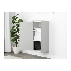 EKET Cabinet With Door And 2 Shelves, White
