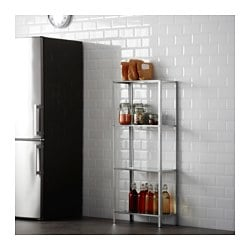 Hyllis Shelving Unit In Outdoor Galvanised Ikea