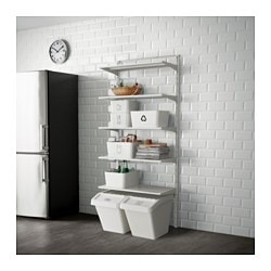ALGOT, Wall upright/shelves, metal white