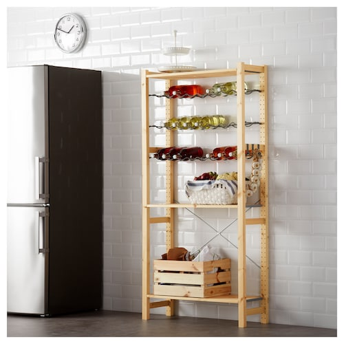 IKEA IVAR Shelving unit with bottle racks