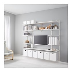 Perfect ALGOT Wall Upright/shelves, White Width: 82 5/8  Part 13