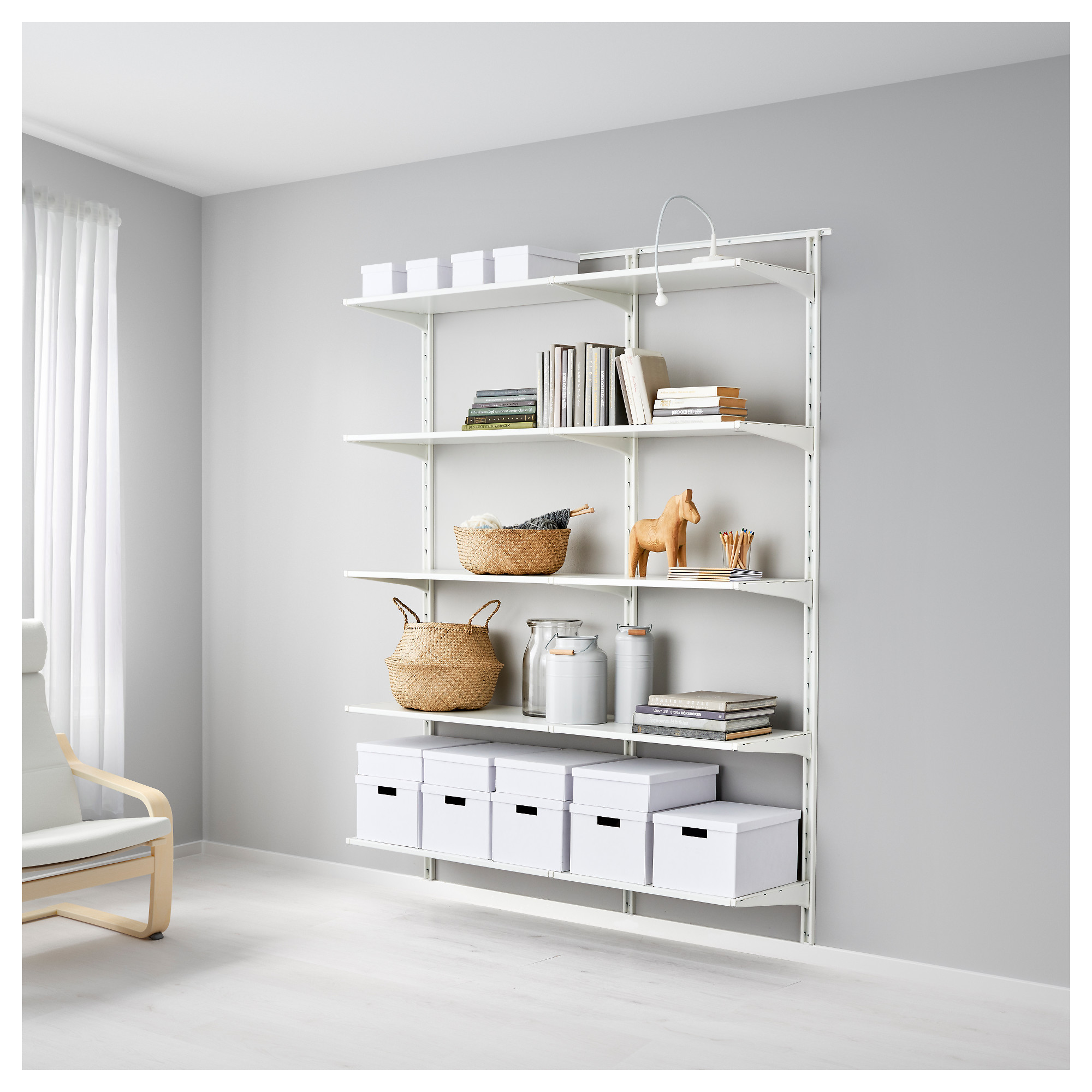 low priced fa624 7cf65 Wall upright/shelves ALGOT white