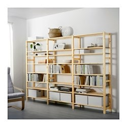 IVAR 3 sections/shelves, pine
