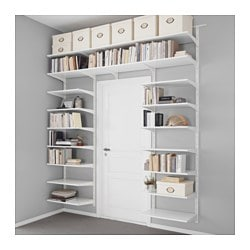 ALGOT, Wall upright/shelves, white