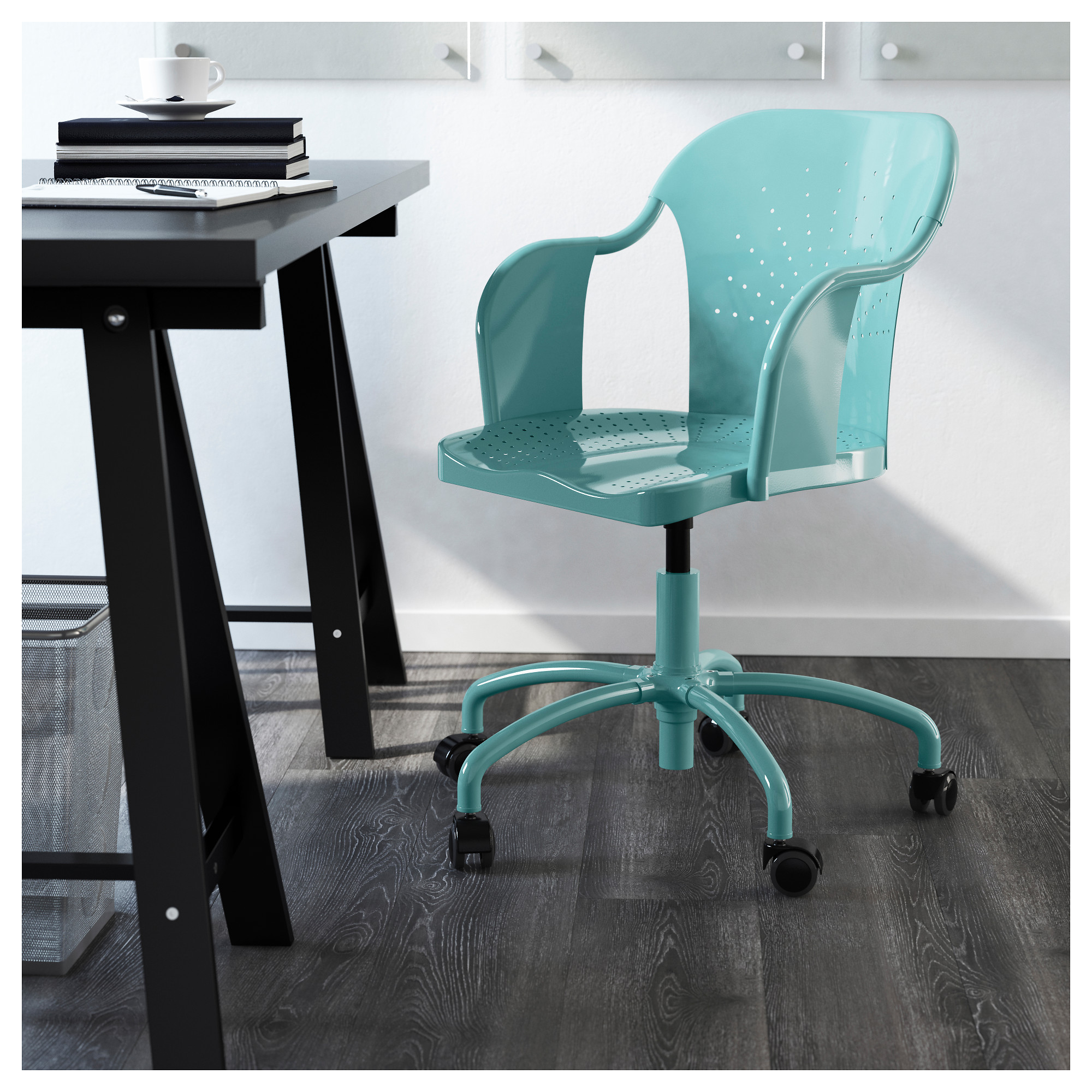 ROBERGET Swivel chair turquoise IKEA