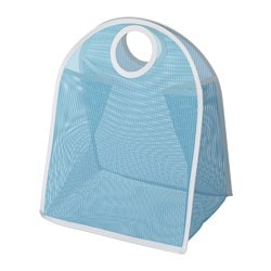 LÅDDAN storage bag, blue, white Max. load: 3 kg