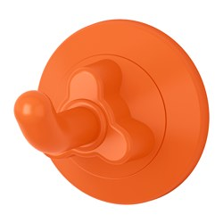 LÅDDAN hook with suction cup, orange Max. load: 2 kg