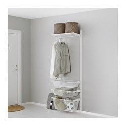 ALGOT, Wall upright/mesh baskets, white