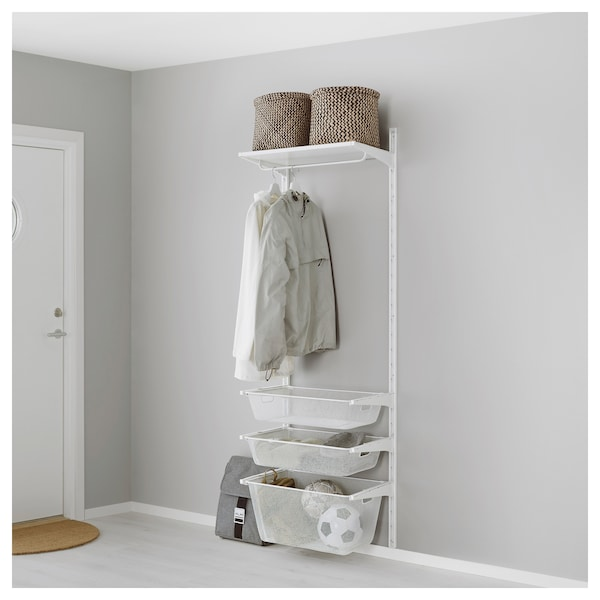 IKEA ALGOT Wall upright/mesh baskets