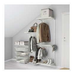 ALGOT wall upright/shelves/rod, white Width: 188 cm Depth: 40 cm Height: 196 cm