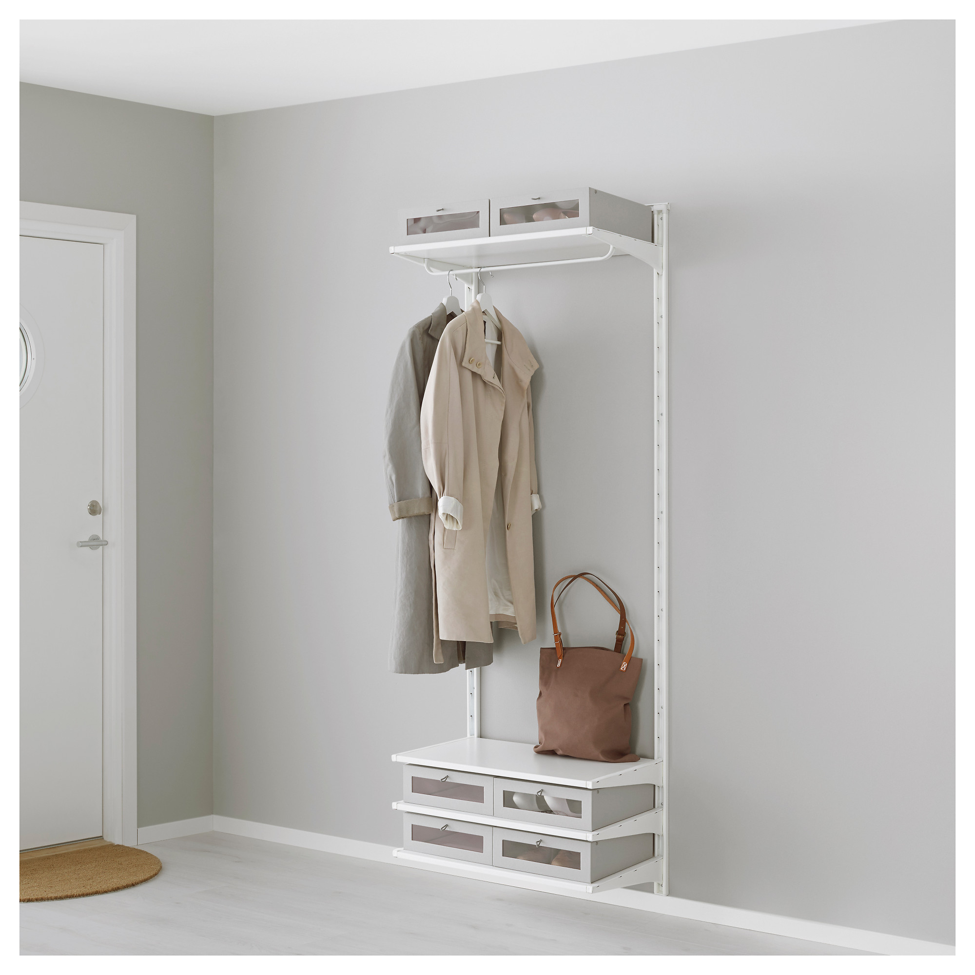 algot wall uprightshelvesrod white width 26 depth 16 algot white wall mounted storage solution