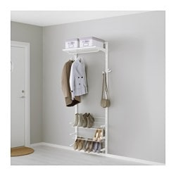 ALGOT, Wall upright/shelves/shoe organizer, white
