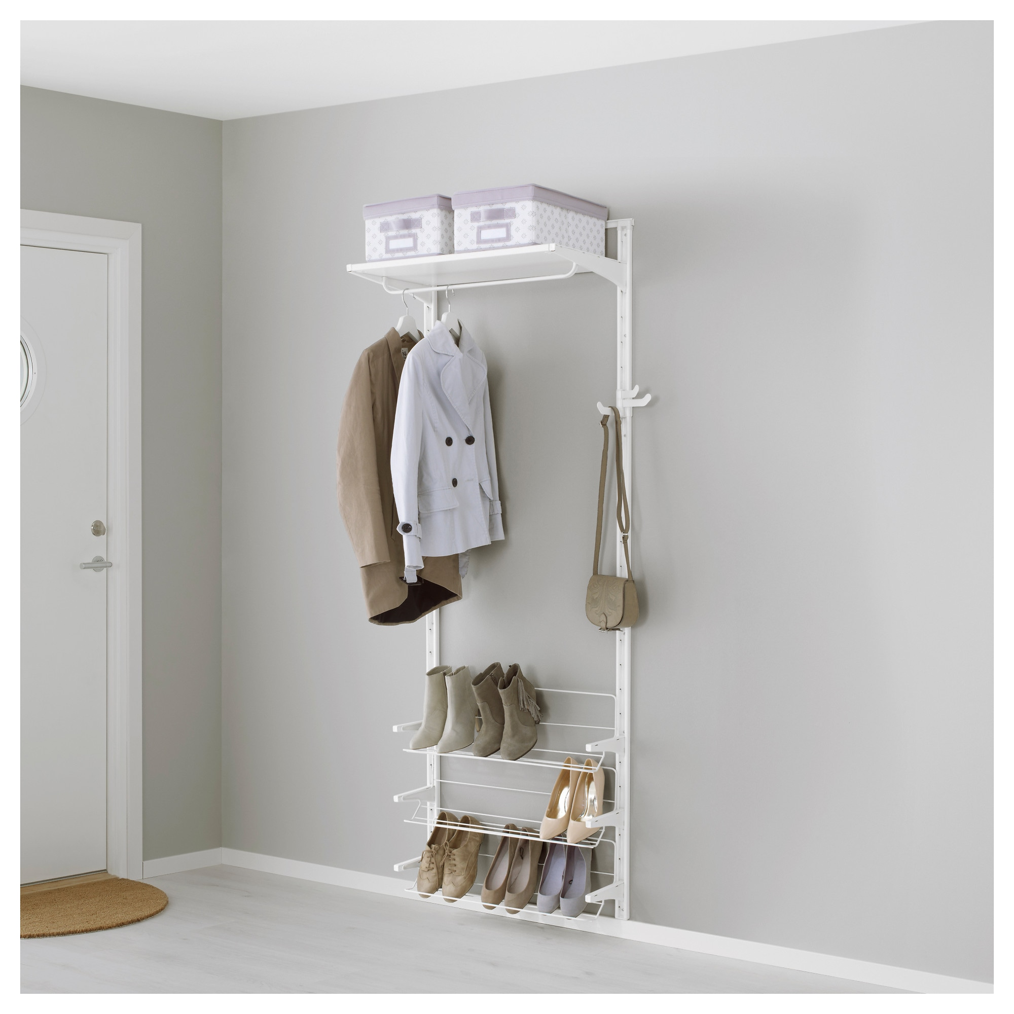 algot wall uprightshelvesshoe organizer white width 29 78 algot white wall mounted storage solution
