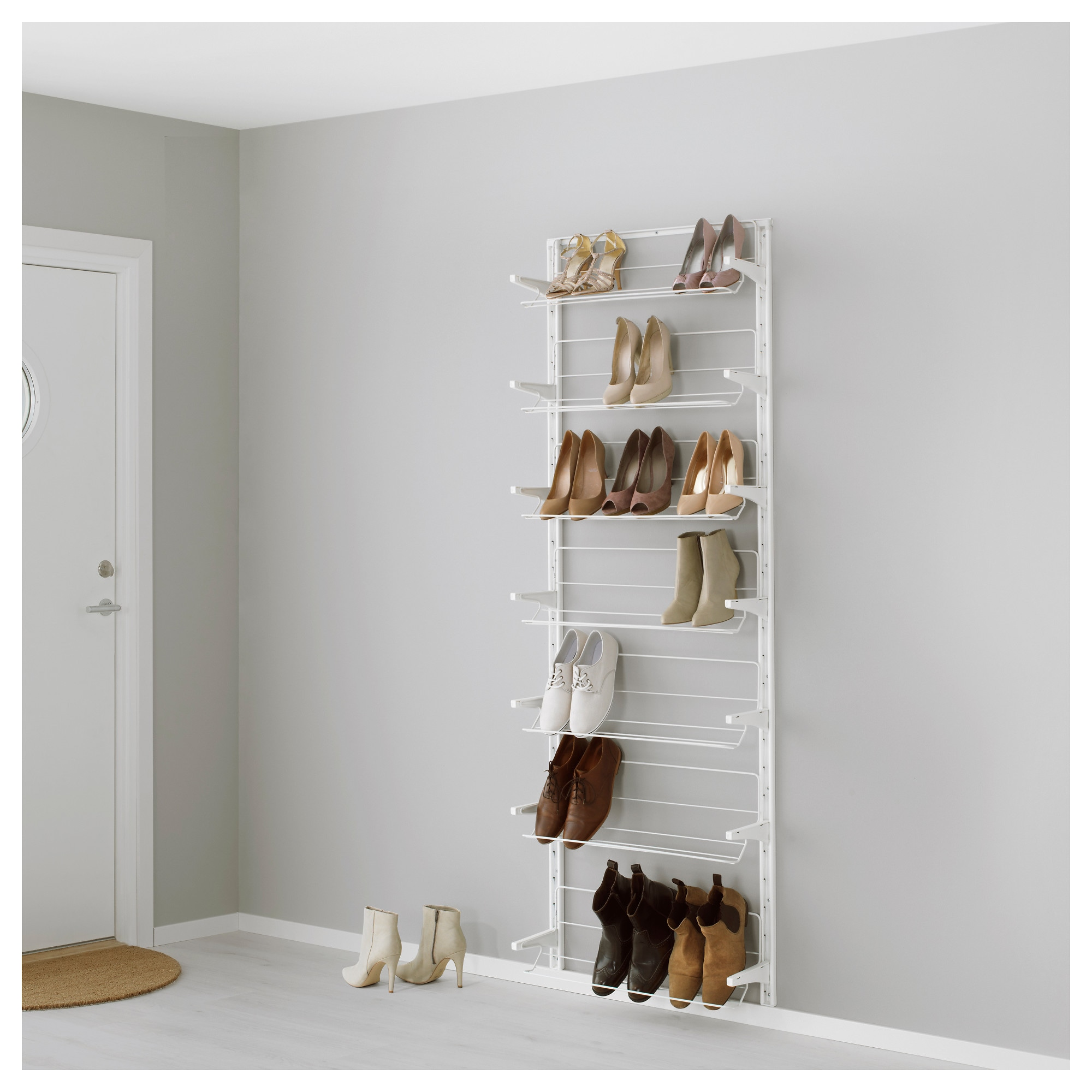 algot wall uprightshoe organizer white width 26 depth 8 1 algot white wall mounted storage solution