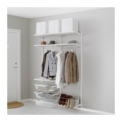 Nice ALGOT Wall Upright/rod/shoe Organizer, White