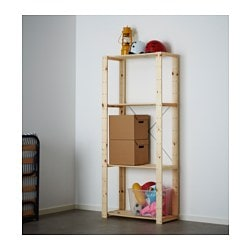 HEJNE, Shelf unit, softwood