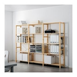IVAR 3 section shelving unit, pine