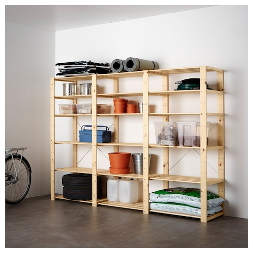 IKEA HEJNE 3 section shelving unit