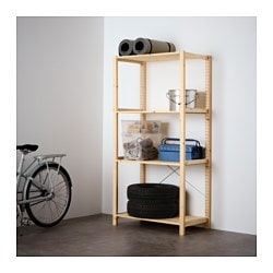 IVAR 1 section/shelves, pine Width: 89 cm Depth: 50 cm Height: 179 cm