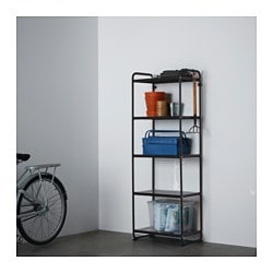 MULIG, Shelf unit, black
