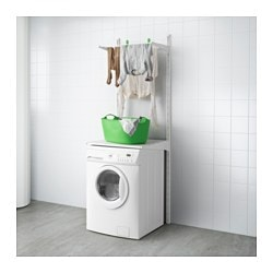ALGOT wall upright/shelves/drying rack, white Width: 65 cm Depth: 60 cm Height: 196 cm