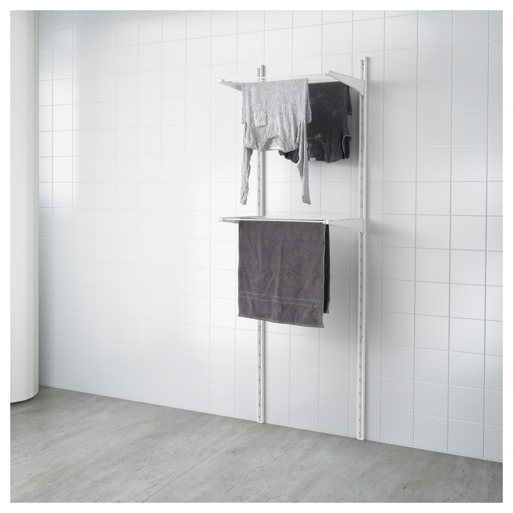 rack, white Width 26   Depth 16 1 ?  Bathroom Shelving Units  IKEA~ Ikea Badkamer Ladder