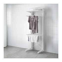 ALGOT post/foot/drying rack, white Width: 65 cm Depth: 67 cm Height: 194 cm