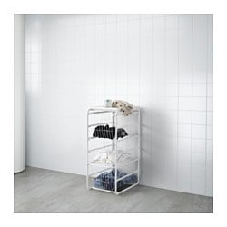 ALGOT frame/3 wire baskets/top shelf, white Width: 41 cm Depth: 60 cm Height: 105 cm