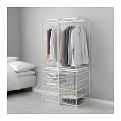 ALGOT frame with rod/wire baskets, white Width: 82 cm Depth: 60 cm Height: 174 cm