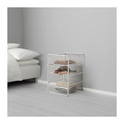 ANTONIUS, Frame and wire baskets, white