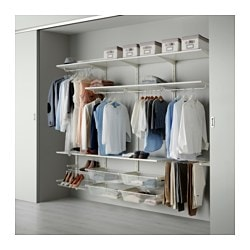 ALGOT, Wall upright/rod/shoe organizer, white