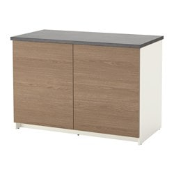 KNOXHULT base cabinet with doors, wood effect, grey Width: 120 cm Depth: 61 cm Height: 85 cm