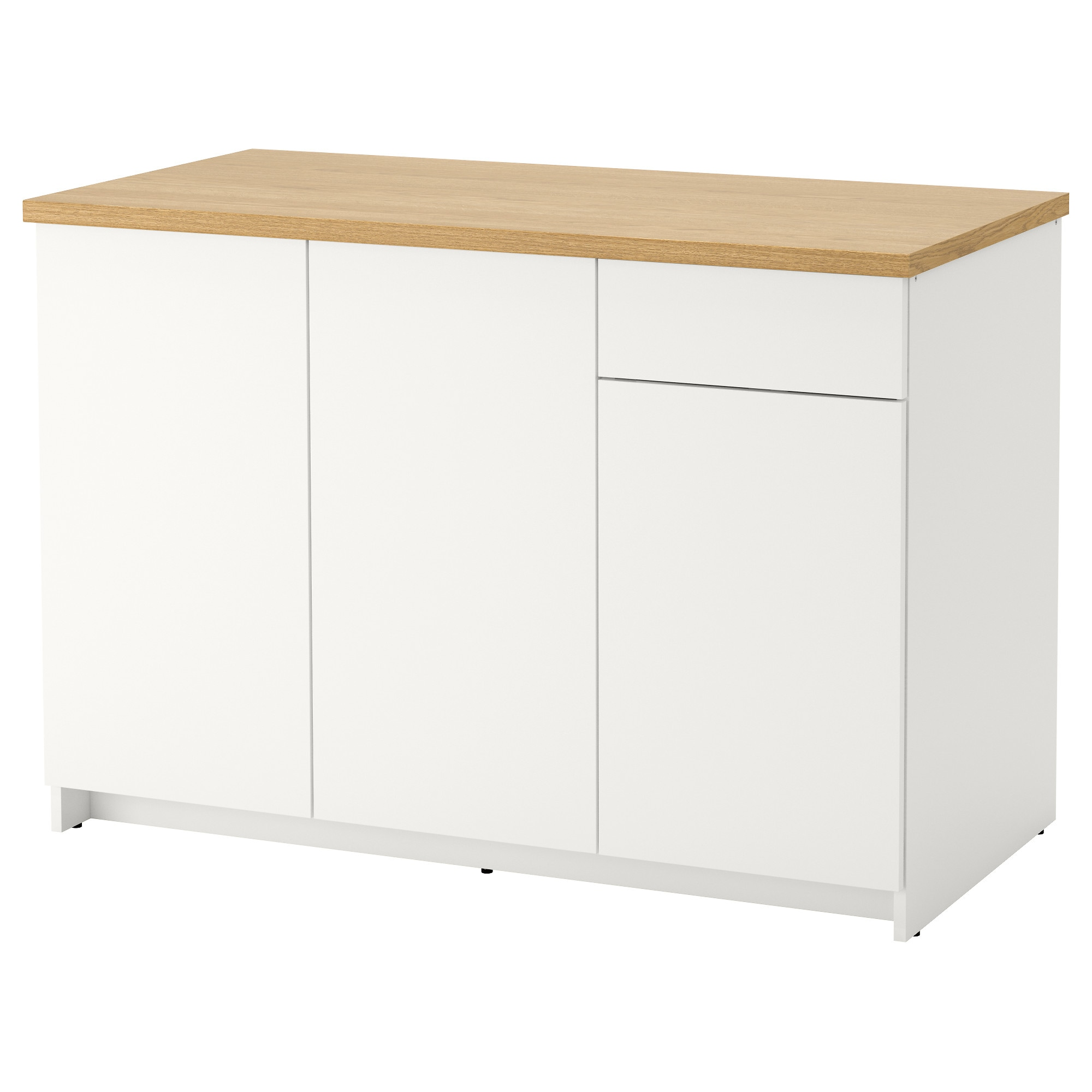 Kitchen cabinet drawer length - Knoxhult Base Cabinet With Doors And Drawer White Worktop Length 122 0 Cm Width