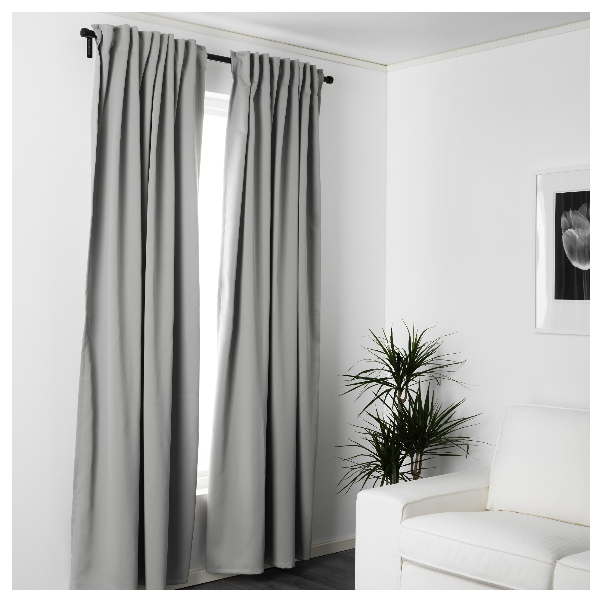 grey durable top x dark white size grommet panel solid curtain silver blackout home aurora polyester black thermal inch pair insulated and pin curtains