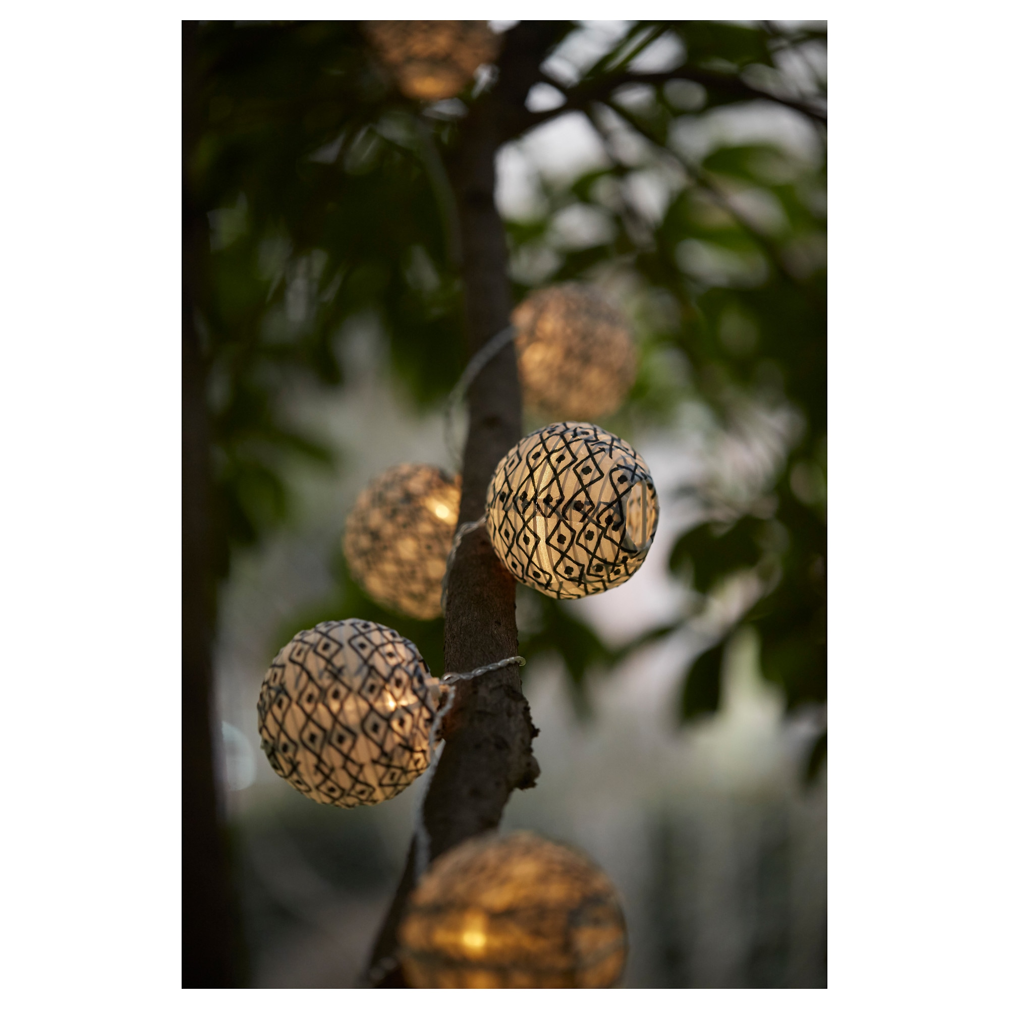 solvinden decoration for light chain globe blackwhite diameter 3 package quantity - Decorative Lighting