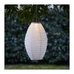 SOLVINDEN LED solar-powered pendant lamp, white