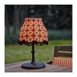 SOLVINDEN LED solar-powered table lamp, orange