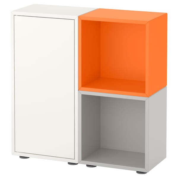 eket schrankkombination f e wei orange hellgrau ikea. Black Bedroom Furniture Sets. Home Design Ideas