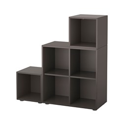 EKET cabinet combination with feet, dark grey