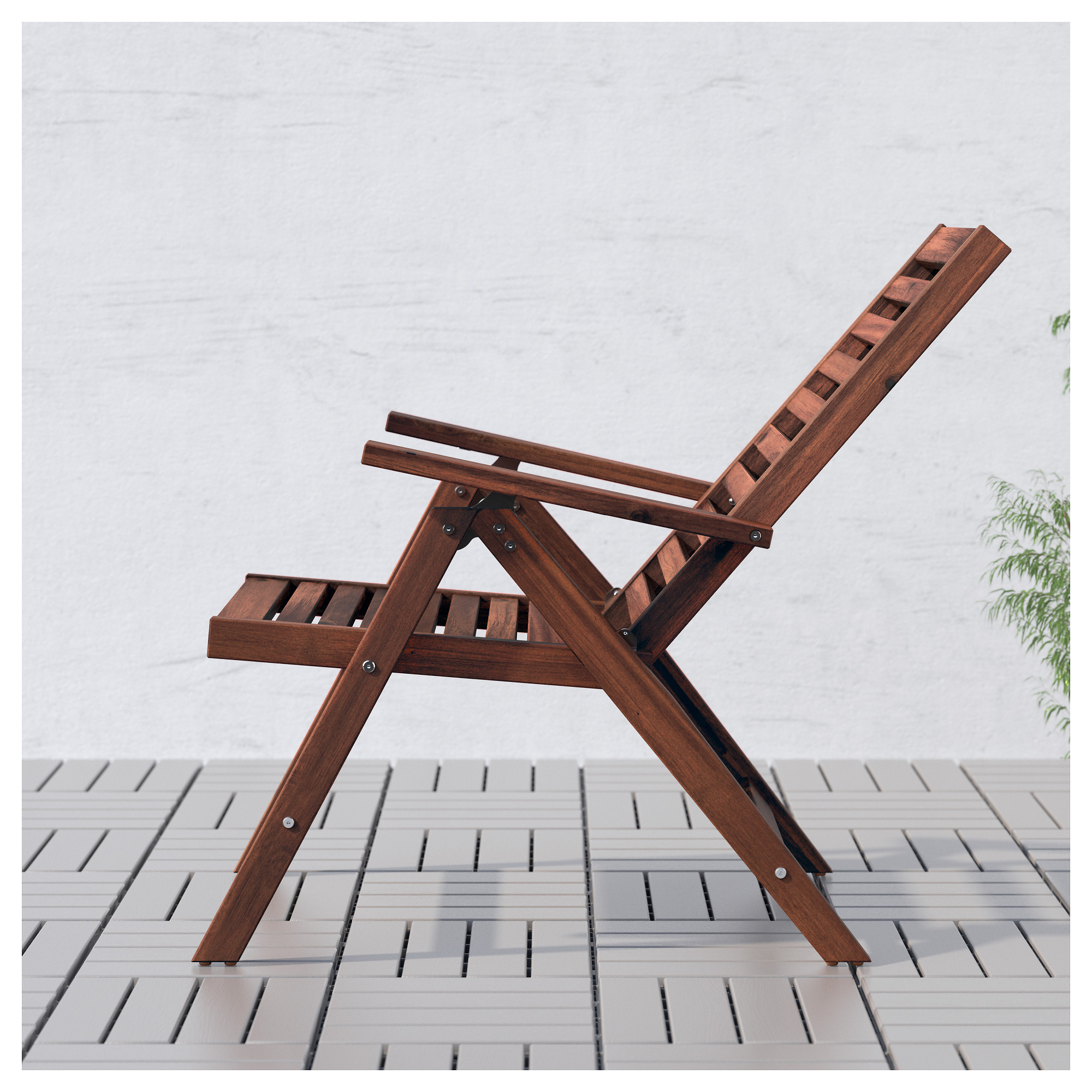 ÄPPLARÖ Reclining Chair, Outdoor   Foldable Brown Stained   IKEA