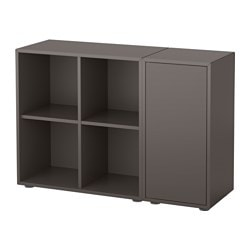 Merveilleux EKET Storage Combination With Feet, Dark Gray