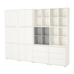 EKET cabinet combination with feet, white/light grey